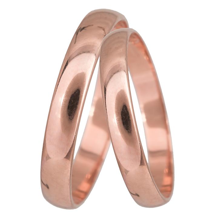 Ροζ χρυσές βέρες κλασικές Κ14 024071 024071 Χρυσός 14 Καράτια