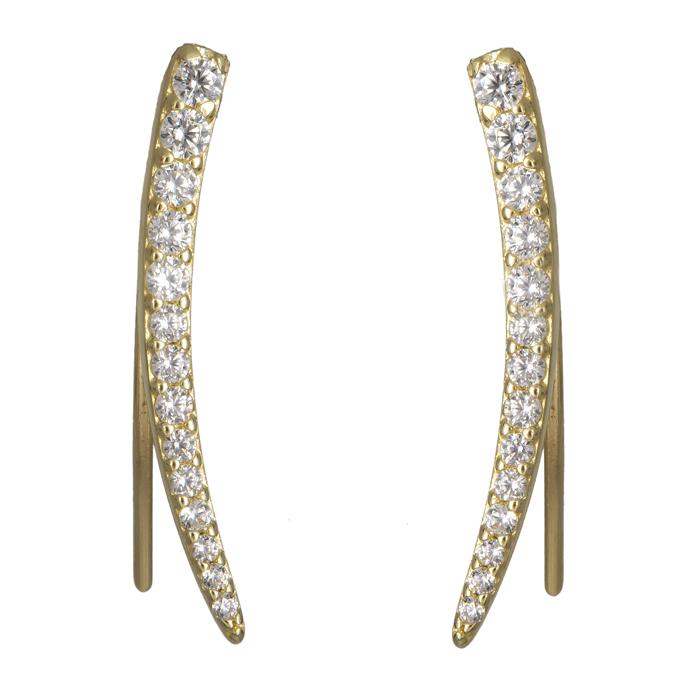 Χρυσά σκουλαρίκια 14Κ με ζιργκόν 024080 024080 Χρυσός 14 Καράτια