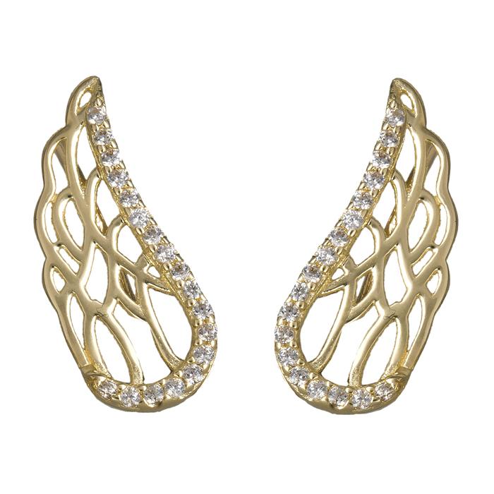 Χρυσά σκουλαρίκια φτερά αγγέλου 14Κ 024107 024107 Χρυσός 14 Καράτια