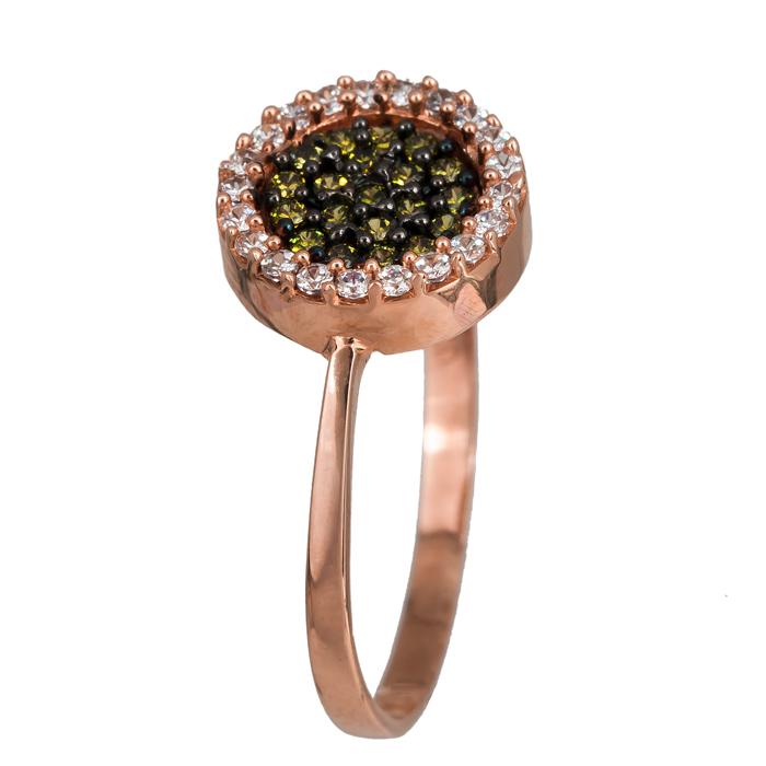 Ροζ χρυσό δαχτυλίδι λευκός - λαδί στόχος Κ14 024135 024135 Χρυσός 14 Καράτια 8ab3af68ed9