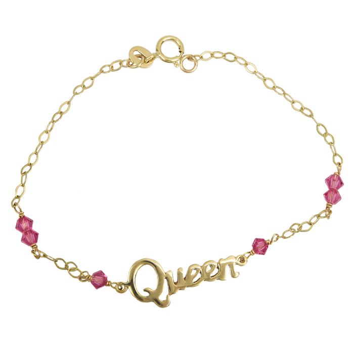 Χρυσό βραχιόλι Queen για κοριτσάκι Κ9 024147 024147 Χρυσός 9 Καράτια