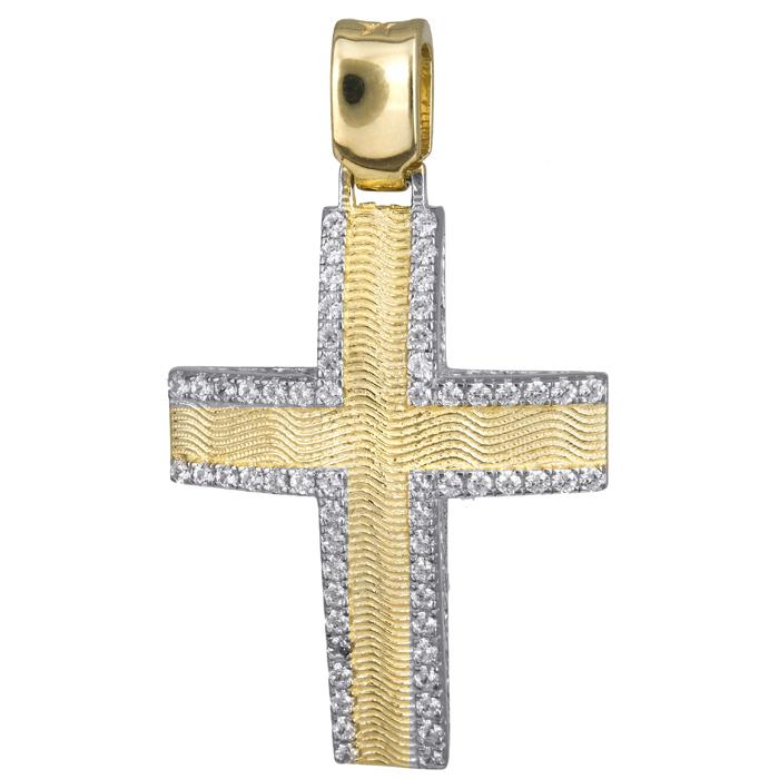 Σταυροί Βάπτισης - Αρραβώνα Χρυσός γυναικείος σταυρός ανάγλυφος 14Κ 024177 024177 Γυναικείο Χρυσός 14 Καράτια