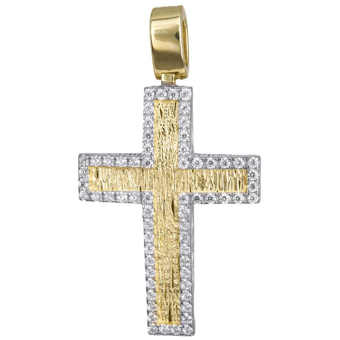Σταυροί Βάπτισης - Αρραβώνα Γυναικείος ανάγλυφος σταυρός 14Κ 024179 024179 Γυναικείο Χρυσός 14 Καράτια