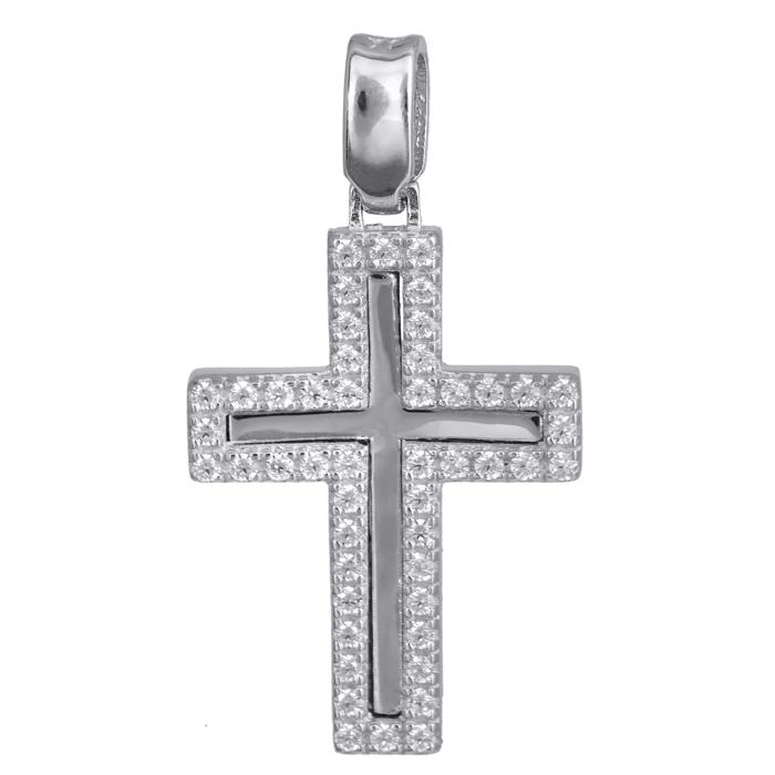 Σταυροί Βάπτισης - Αρραβώνα Γυναικείος λευκόχρυσος σταυρός 14Κ 024188 024188 Γυναικείο Χρυσός 14 Καράτια