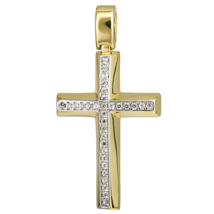 Σταυροί Βάπτισης - Αρραβώνα Κλασικός γυναικείος σταυρός 14Κ 024203 024203 Γυναικείο Χρυσός 14 Καράτια