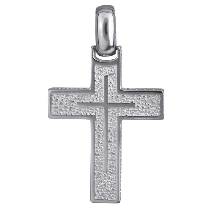 Σταυροί Βάπτισης - Αρραβώνα Λευκόχρυσος κλασικός σταυρός Κ14 024220 024220 Ανδρικό Χρυσός 14 Καράτια