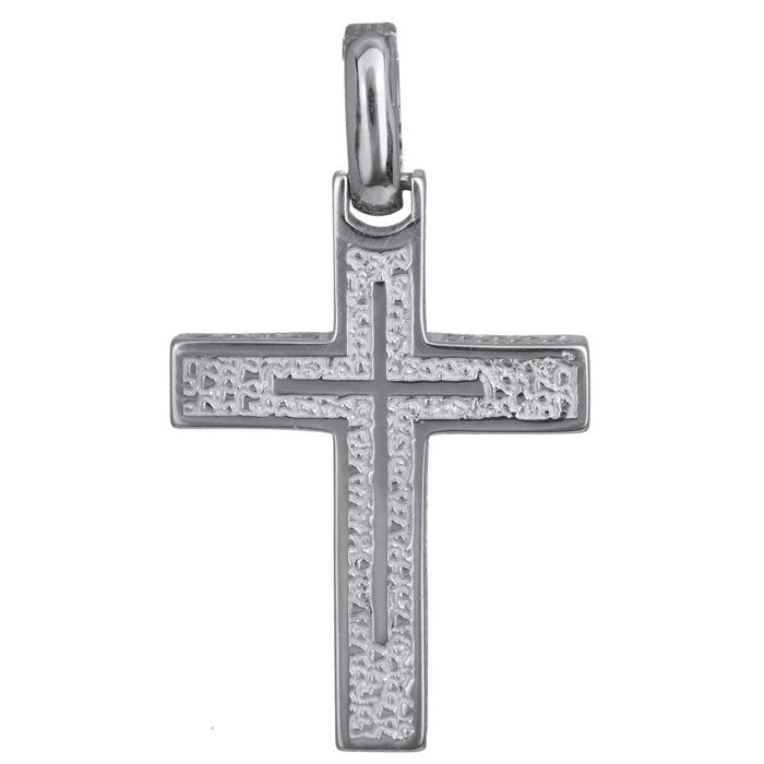 Σταυροί Βάπτισης - Αρραβώνα Λευκόχρυσος αντρικός σταυρός 14Κ 024222 024222 Ανδρικό Χρυσός 14 Καράτια