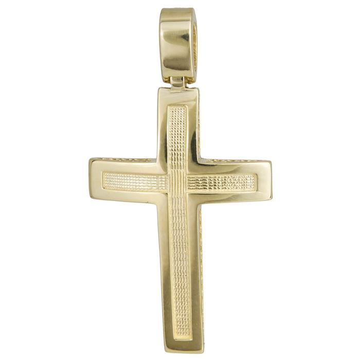 Σταυροί Βάπτισης - Αρραβώνα Χρυσός σταυρός βάπτισης Κ14 024247 024247 Ανδρικό Χρυσός 14 Καράτια