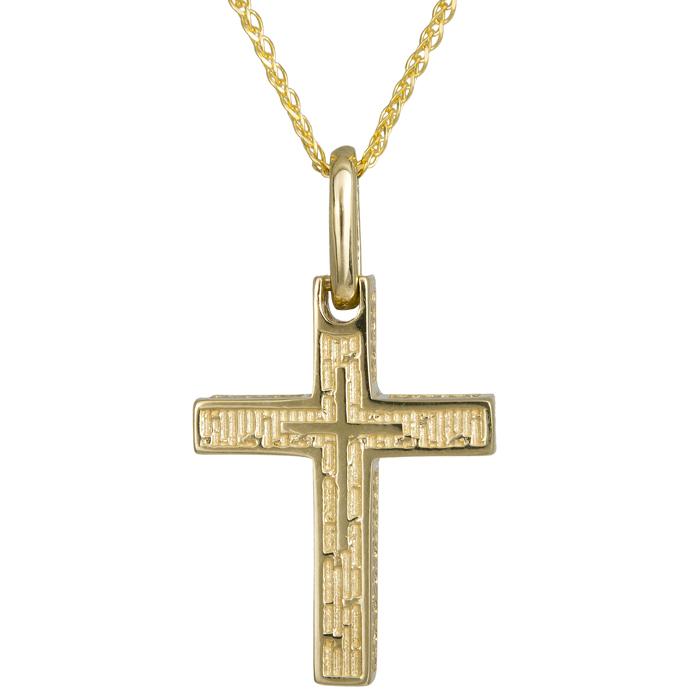 Βαπτιστικοί Σταυροί με Αλυσίδα Χρυσός σταυρός Κ14 με αλυσίδα 024267C 024267C Ανδρικό Χρυσός 14 Καράτια