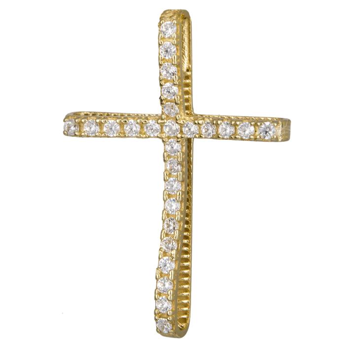 Χρυσός πετράτος σταυρός 14Κ 024290 024290 Χρυσός 14 Καράτια