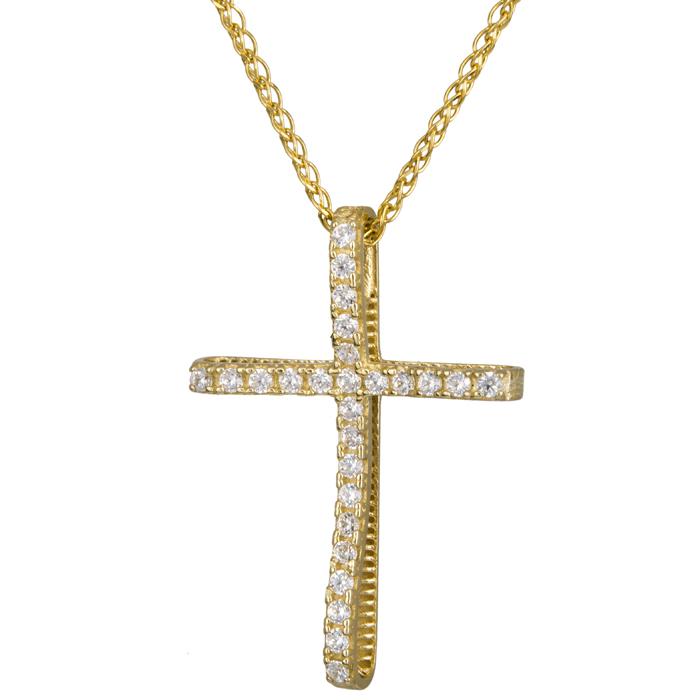 Χρυσός γυναικείος σταυρός 024290C 024290C Χρυσός 14 Καράτια