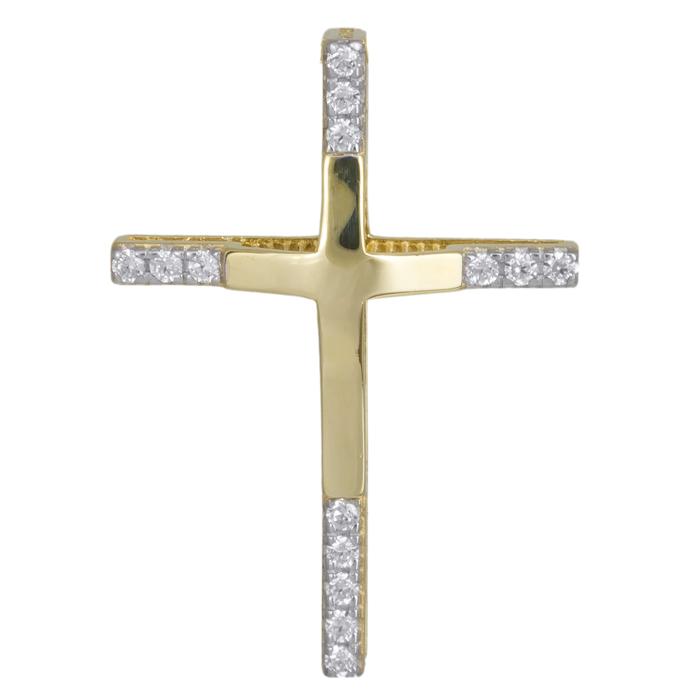 Χρυσός γυναικείος σταυρός 14Κ 024294 024294 Χρυσός 14 Καράτια