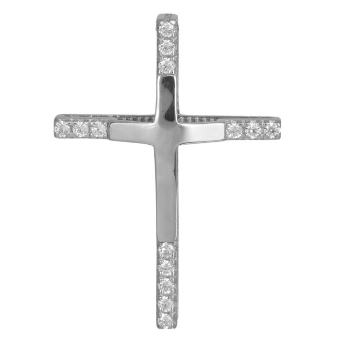 Λευκόχρυσος χειροποίητος σταυρός 14Κ 024295 024295 Χρυσός 14 Καράτια χρυσά κοσμήματα σταυροί