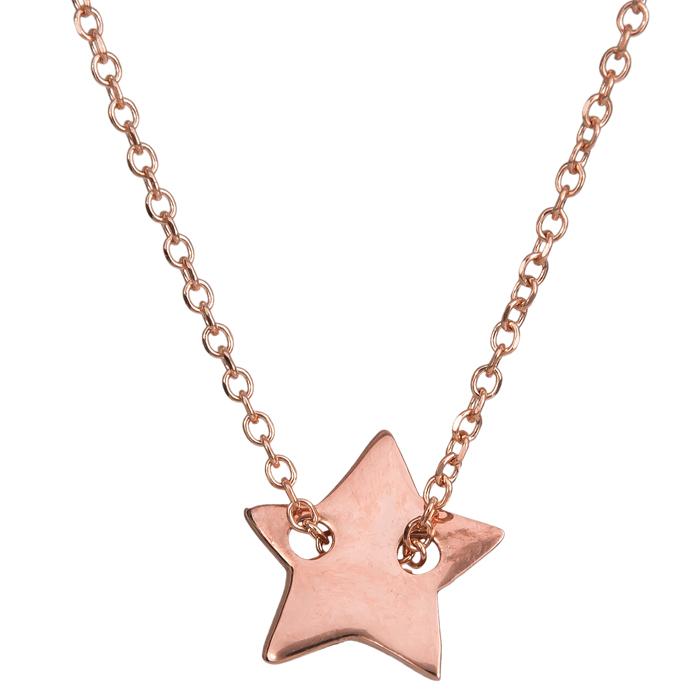 Κολιέ αστέρι ροζ gold Κ14 024319 024319 Χρυσός 14 Καράτια