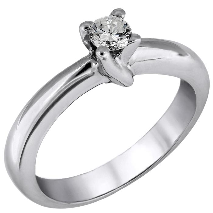 Μονόπετρο δαχτυλίδι με μπριγιάν Κ18 026241 026241 Χρυσός 18 Καράτια
