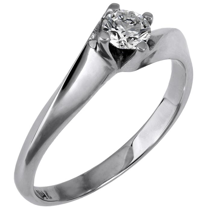 Μονόπετρο δαχτυλίδι με μπριγιάν Κ18 024339 024339 Χρυσός 18 Καράτια