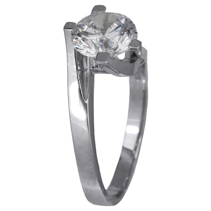 Μονόπετρο δαχτυλίδι λευκόχρυσο Κ14 024351 024351 Χρυσός 14 Καράτια