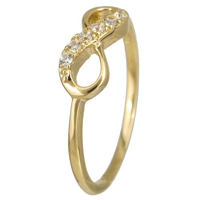 Χρυσό δαχτυλίδι άπειρο Κ14 024361 024361 Χρυσός 14 Καράτια