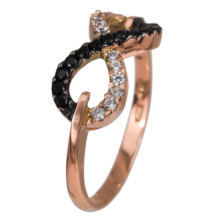 Ροζ χρυσό δαχτυλίδι με ζιργκόν Κ14 024363 024363 Χρυσός 14 Καράτια