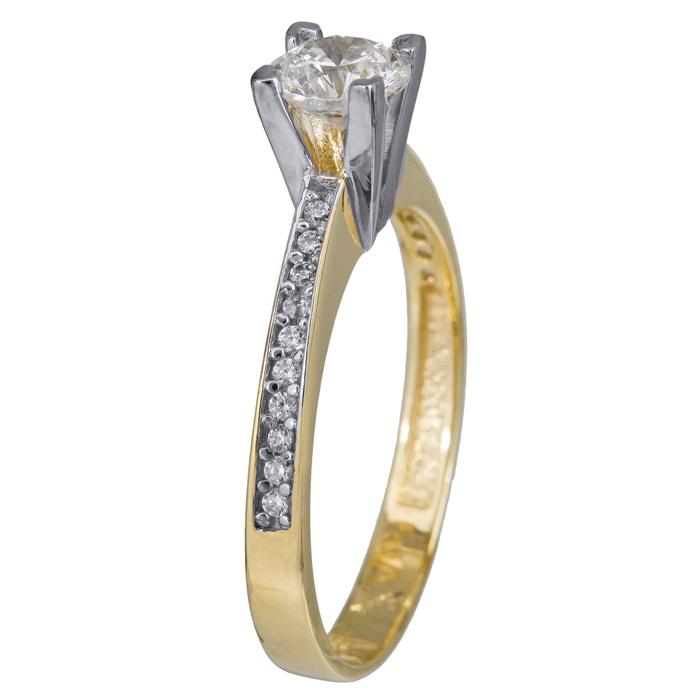 Γυναικείο δαχτυλίδι γάμου Κ14 024371 024371 Χρυσός 14 Καράτια