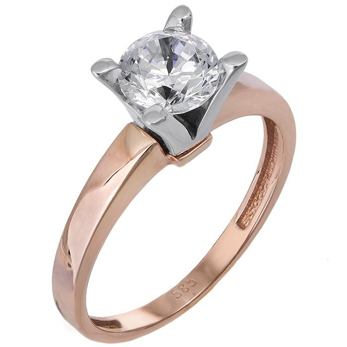 Μονόπετρο δαχτυλίδι Κ14 024374 024374 Χρυσός 14 Καράτια