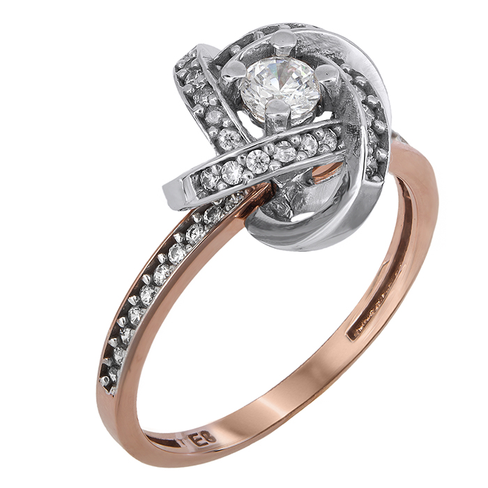 Μονόπετρο δαχτυλίδι Κ14 με ζιργκόν 024381 024381 Χρυσός 14 Καράτια