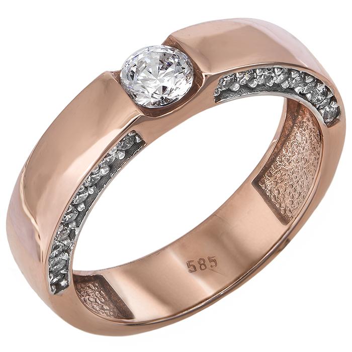 Γυναικείο δαχτυλίδι σε ροζ χρυσό Κ14 024382 024382 Χρυσός 14 Καράτια