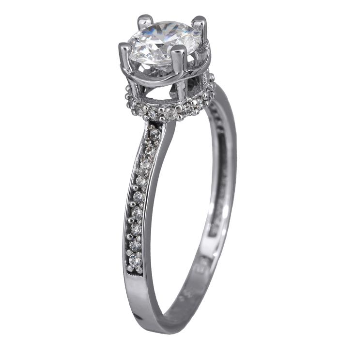 Λευκόχρυσο δαχτυλίδι Κ14 024386 024386 Χρυσός 14 Καράτια