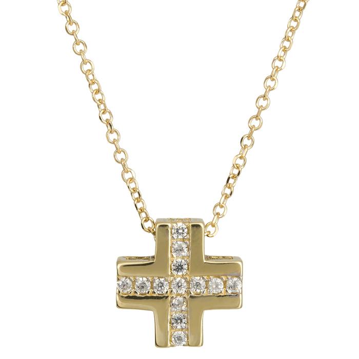Γυναικείο σταυρουδάκι Κ14 024401 024401 Χρυσός 14 Καράτια