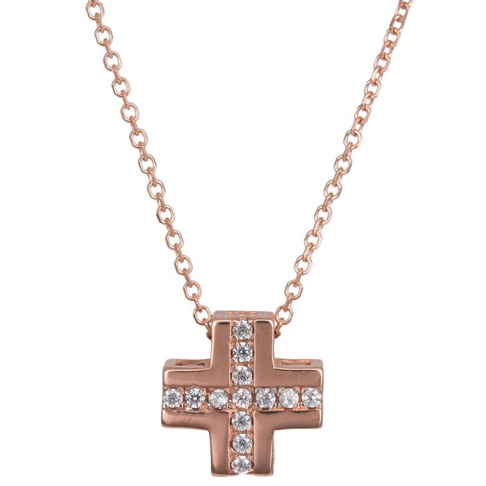 Ροζ gold σταυρός Κ14 024403 024403 Χρυσός 14 Καράτια χρυσά κοσμήματα σταυροί