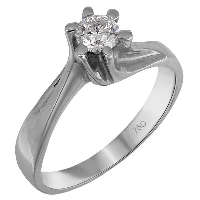 Λευκόχρυσο μονόπετρο Κ18 διαμάντι μπριγιάν 024404 024404 Χρυσός 18 Καράτια