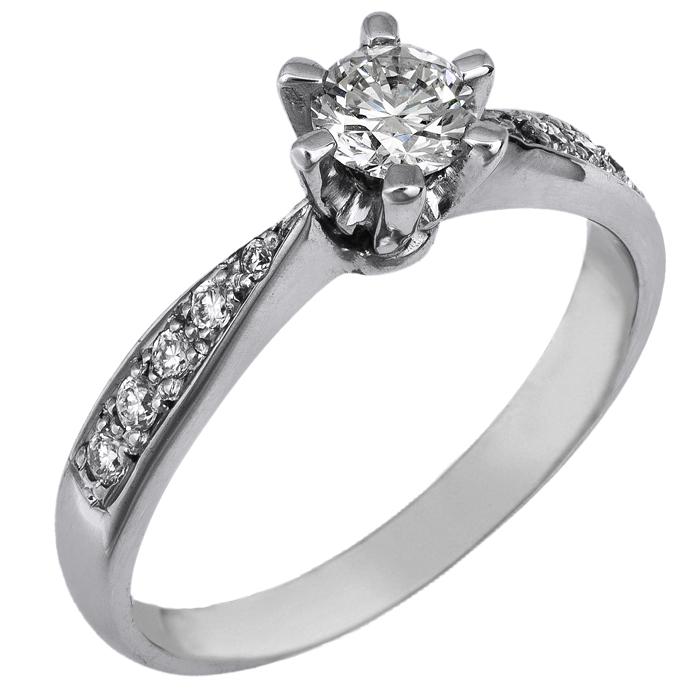 Λευκόχρυσο μονόπετρο με διαμάντια Κ18 024405 024405 Χρυσός 18 Καράτια χρυσά κοσμήματα δαχτυλίδια μονόπετρα