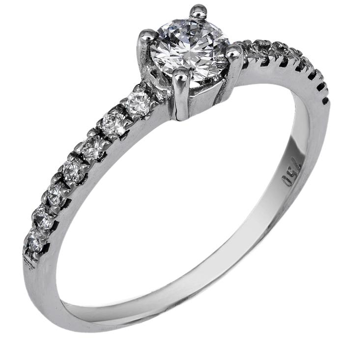 Μονόπετρο δαχτυλίδι με διαμάντια Κ18 024406 024406 Χρυσός 18 Καράτια χρυσά κοσμήματα δαχτυλίδια μονόπετρα