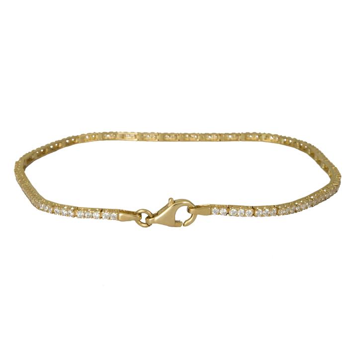 Χρυσό βραχιόλι Κ14 με ζιργκόν 024409 024409 Χρυσός 14 Καράτια
