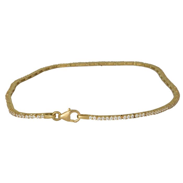Γυναικείο βραχιόλι ριβιέρα με ζιργκόν χρυσό 14 Κ 024412 024412 Χρυσός 14 Καράτια