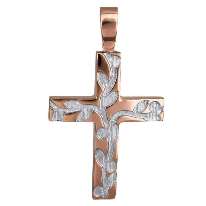 Σταυροί Βάπτισης - Αρραβώνα Γυναικείος ροζ gold σταυρός Κ14 024425 024425 Γυναικείο Χρυσός 14 Καράτια