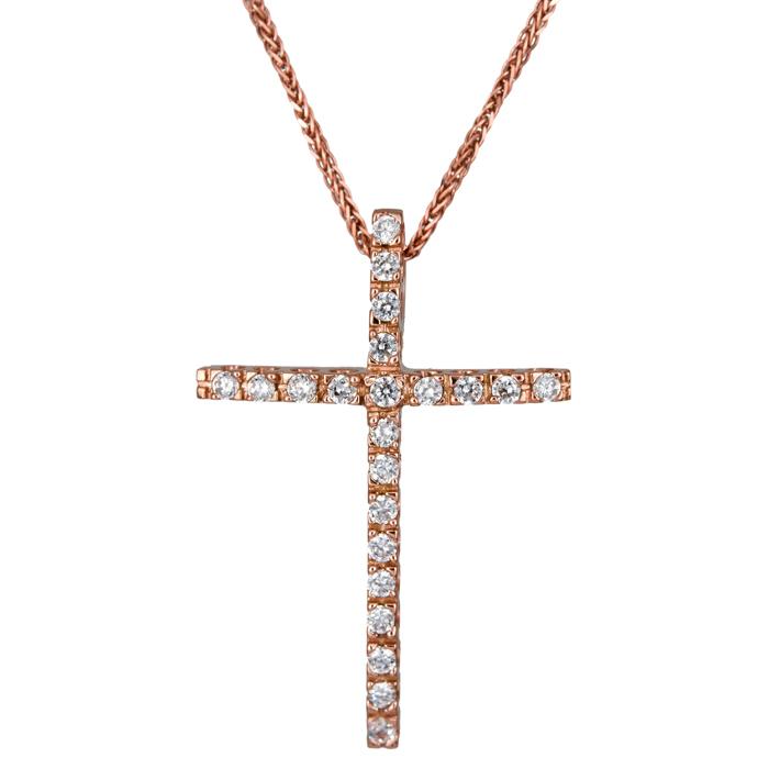 Βαπτιστικοί Σταυροί με Αλυσίδα Πετράτος γυναικείος σταυρός με αλυσίδα 024428C 024428C Γυναικείο Χρυσός 14 Καράτια