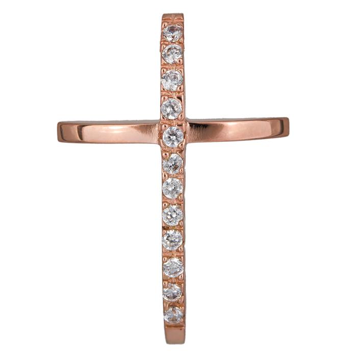 Σταυροί Βάπτισης - Αρραβώνα Γυναικείος σταυρός με πέτρες 14Κ 024429 024429 Γυναικείο Χρυσός 14 Καράτια