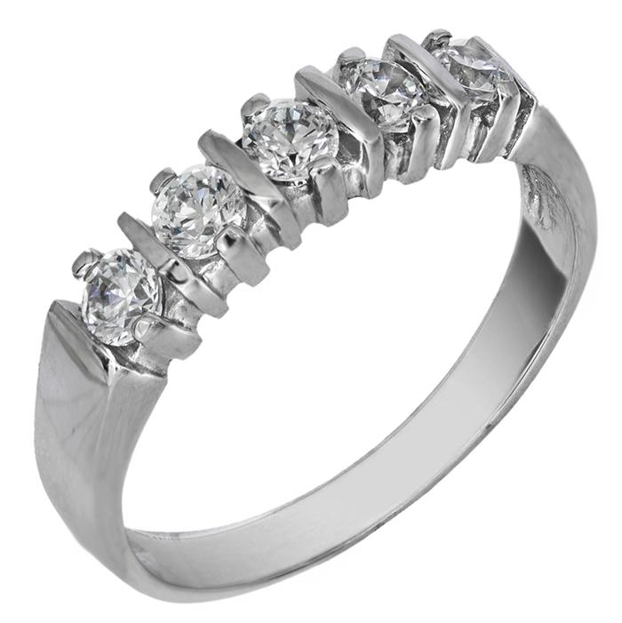 Χειροποίητο δαχτυλίδι λευκόχρυσο 14Κ με ζιργκόν 024453 024453 Χρυσός 14 Καράτια