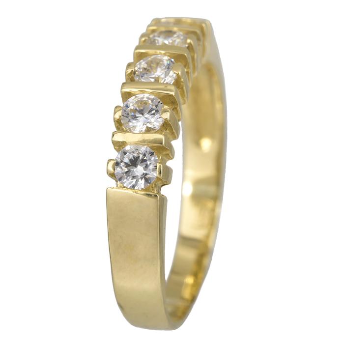 Χρυσό δαχτυλίδι σειρέ 14Κ με ζιργκόν 024454 024454 Χρυσός 14 Καράτια