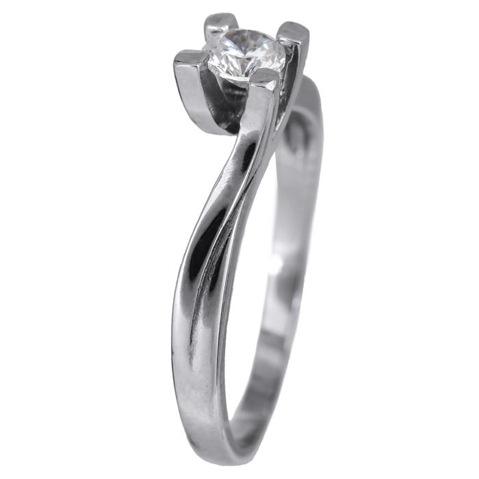 Μονόπετρο δαχτυλίδι αρραβώνα λευκόχρυσο 14Κ 024466 024466 Χρυσός 14 Καράτια