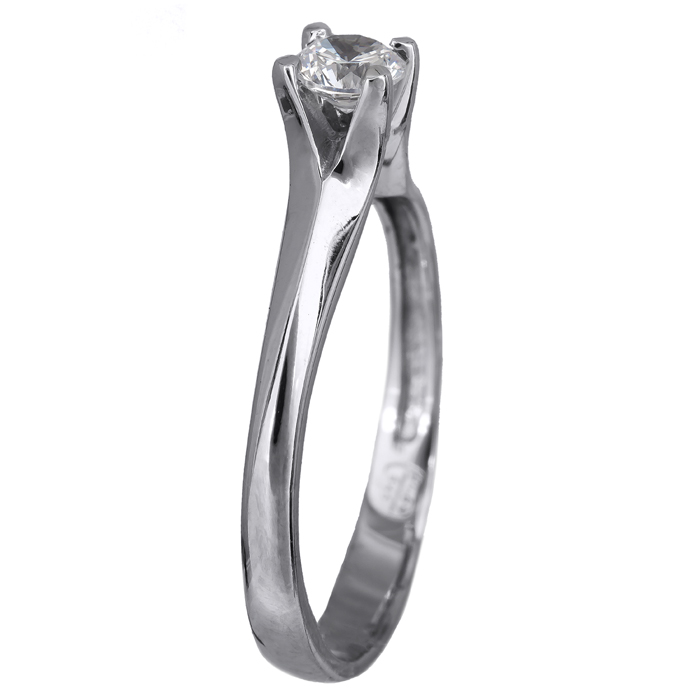 Γυναικείο δαχτυλίδι λευκόχρυσο 14Κ με ζιργκόν 024469 024469 Χρυσός 14 Καράτια χρυσά κοσμήματα δαχτυλίδια μονόπετρα