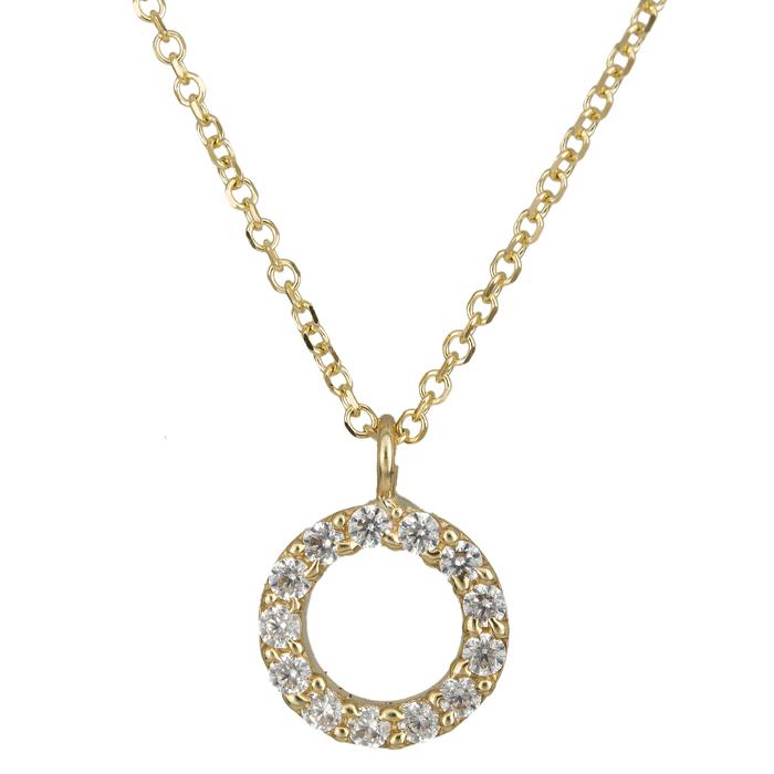 Χρυσό κολιέ κύκλος 14Κ 024496 024496 Χρυσός 14 Καράτια