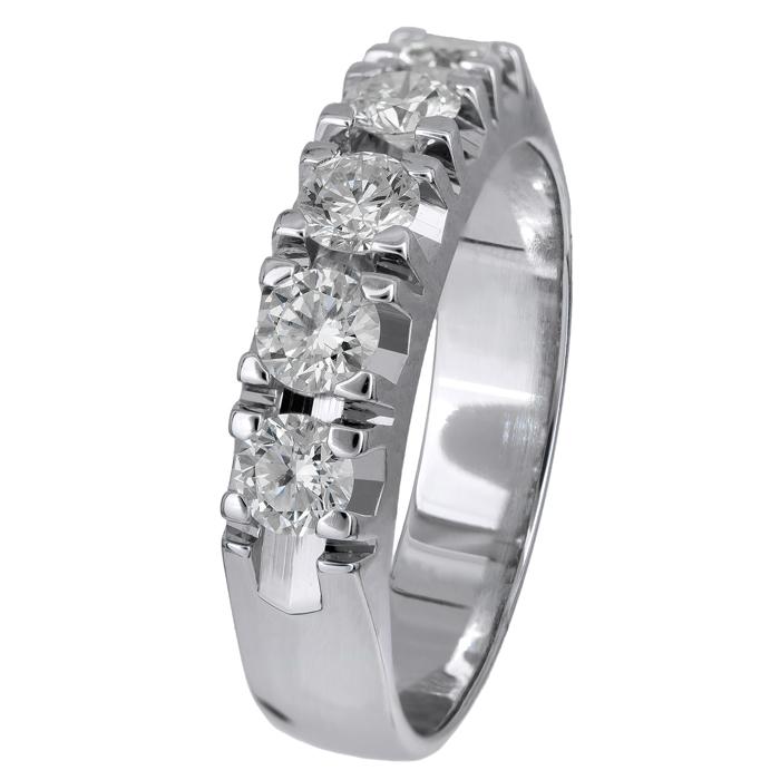 Λευκόχρυσο δαχτυλίδι με διαμάντια Κ18 024517 024517 Χρυσός 18 Καράτια χρυσά κοσμήματα δαχτυλίδια σειρέ ολόβερα