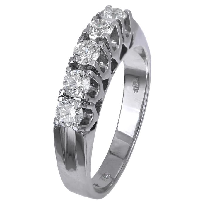 Σειρέ δαχτυλίδι με διαμάντια Κ18 024519 024519 Χρυσός 18 Καράτια