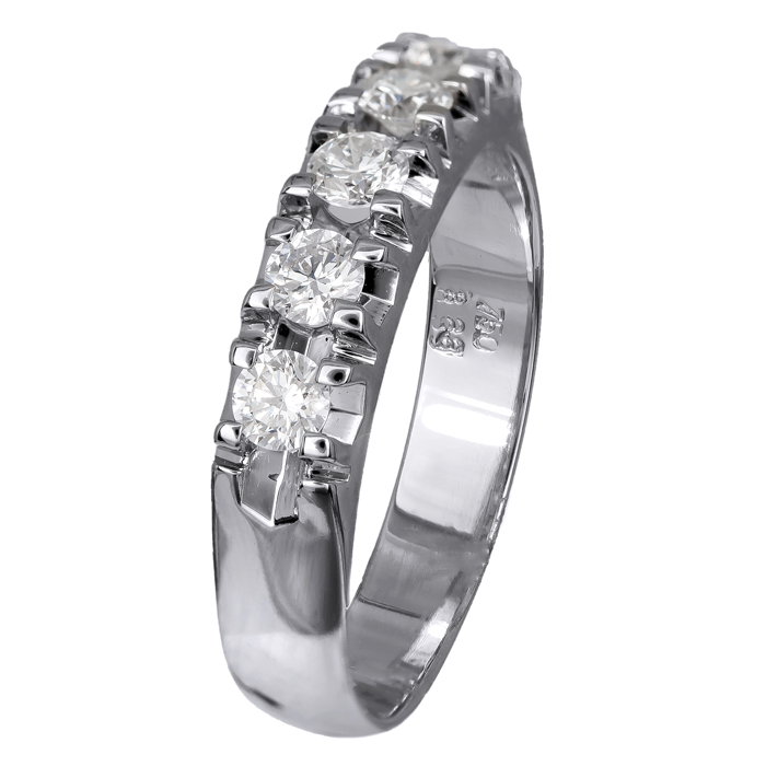 Σειρέ δαχτυλίδι με διαμάντια Κ18 024520 024520 Χρυσός 18 Καράτια