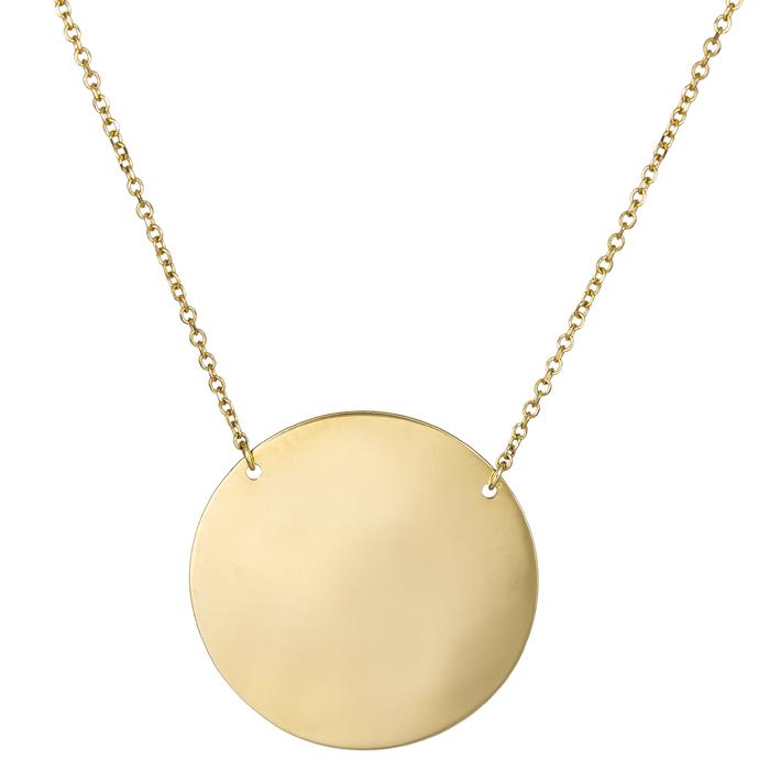 Χρυσό κολιέ πλάκα 14Κ 024525 024525 Χρυσός 14 Καράτια
