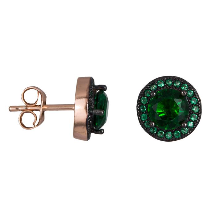 Ροζ gold σκουλαρίκια 925 024539 024539 Ασήμι
