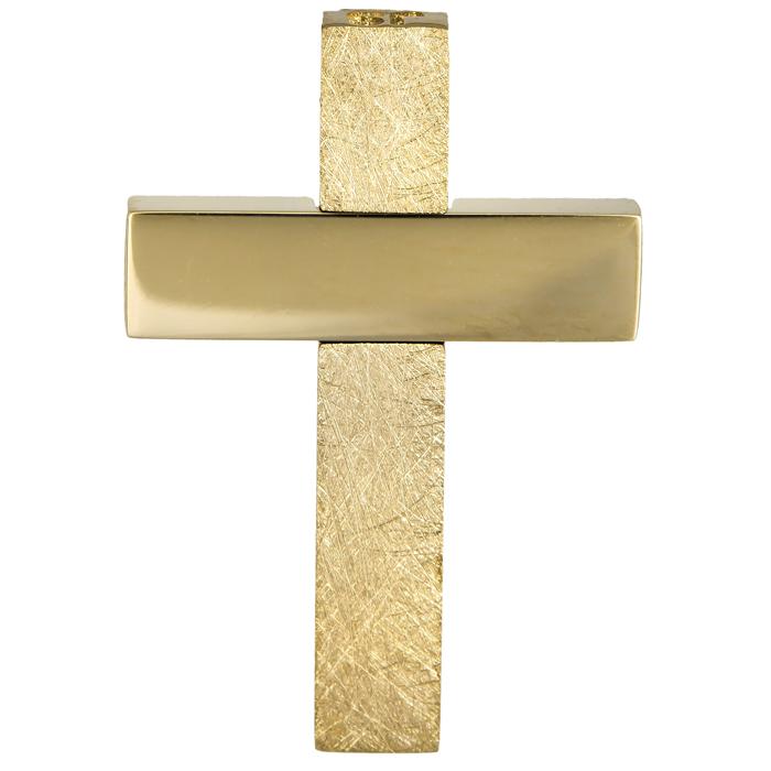 Σταυροί Βάπτισης - Αρραβώνα Χρυσός αντρικός σταυρός 14Κ 024555 024555 Ανδρικό Χρυσός 14 Καράτια