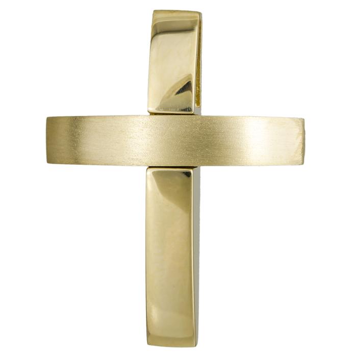 Σταυροί Βάπτισης - Αρραβώνα Χρυσός χειροποίητος σταυρός 14Κ 024558 024558 Ανδρικό Χρυσός 14 Καράτια